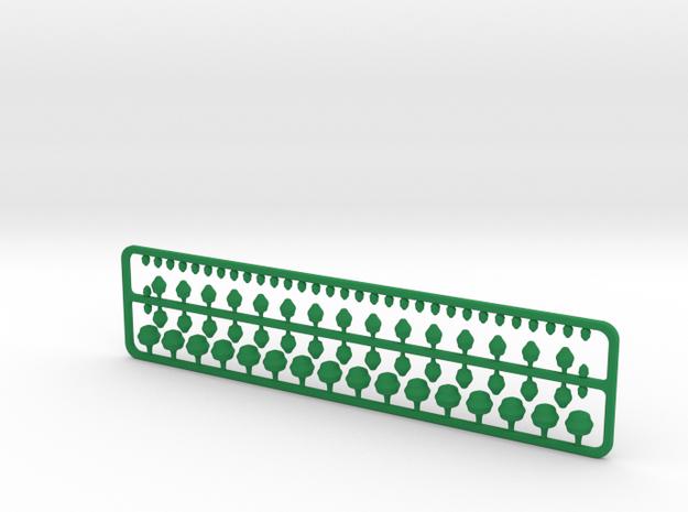 Miniature City Tree Pack (1:2000) in Green Processed Versatile Plastic