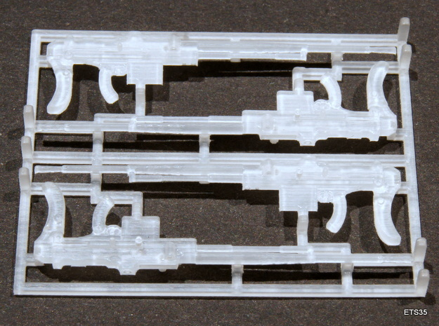 ETS35009 Reibel Machine Gun - 6 types, 2 of each 3d printed Regular Reibel. Two left fed and two right fed.