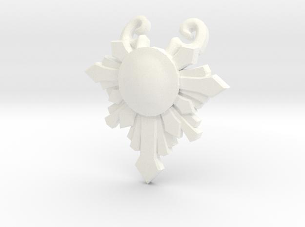 Goddess's Pendant in White Processed Versatile Plastic