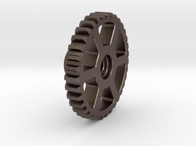 Mini-Z Motor Break-In Gear (SBS Steel) in Polished Bronzed Silver Steel