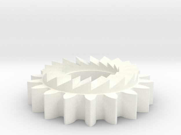 KstartPinionPattern in White Processed Versatile Plastic