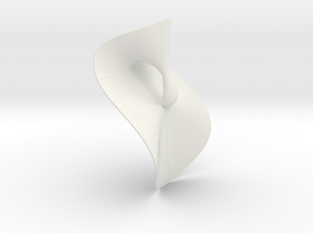 Cubic KM 24 cylinder cut with lines in White Natural Versatile Plastic