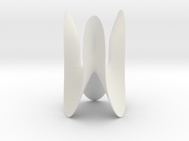 Cubic KM 10 cylinder cut with lines in White Natural Versatile Plastic