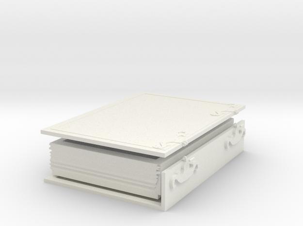 Secret Book in White Natural Versatile Plastic