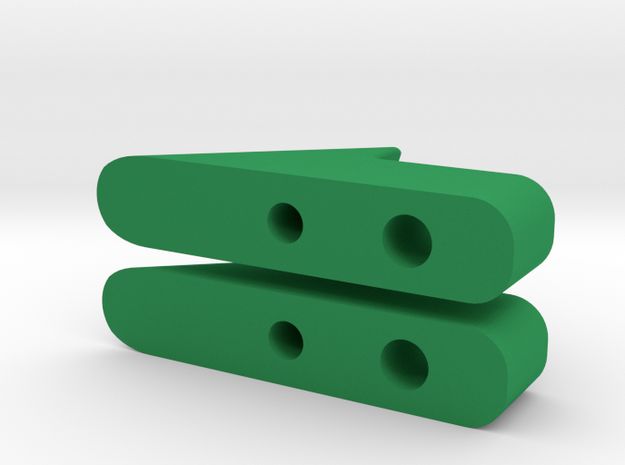 Rear Slider in Green Strong & Flexible Polished