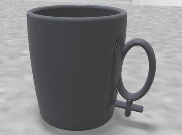 "Coffee Cup ""Hers"" 3d printed"