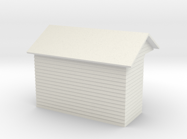 YVT Waiting Shelter 4mm Scale in White Natural Versatile Plastic