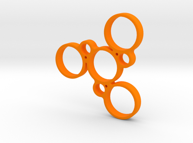 Holey Fidget Spinner in Orange Processed Versatile Plastic