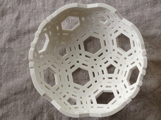 "Lace Bowl (6.25"" diameter) 3d printed Lace Bowl in Sandstone -much better than fruit cake for the holidays"