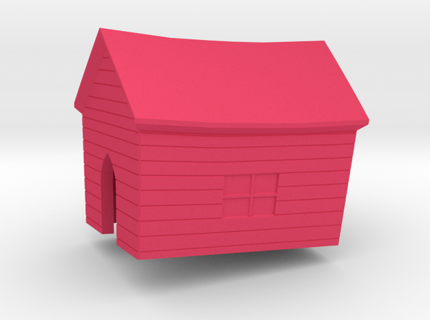House in Pink Processed Versatile Plastic