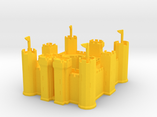 Castle in Yellow Processed Versatile Plastic