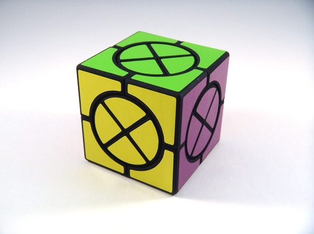 Circle X Cube Puzzle in White Strong & Flexible