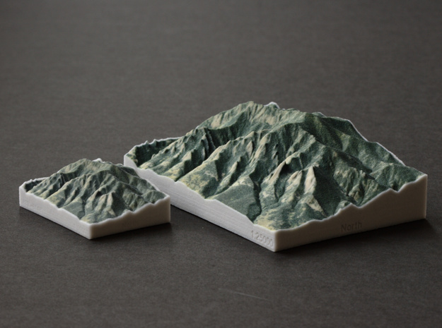 Flatirons, Colorado, USA, 1:25000 in Full Color Sandstone