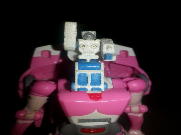 Daniel's Exosuit Headmaster for Arcee and TF Titan in White Strong & Flexible