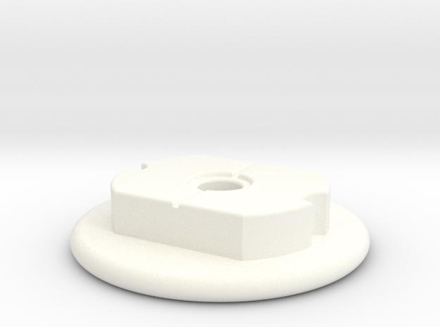 Lancia Delta Halter Stossstange Spacer Bumper in White Processed Versatile Plastic