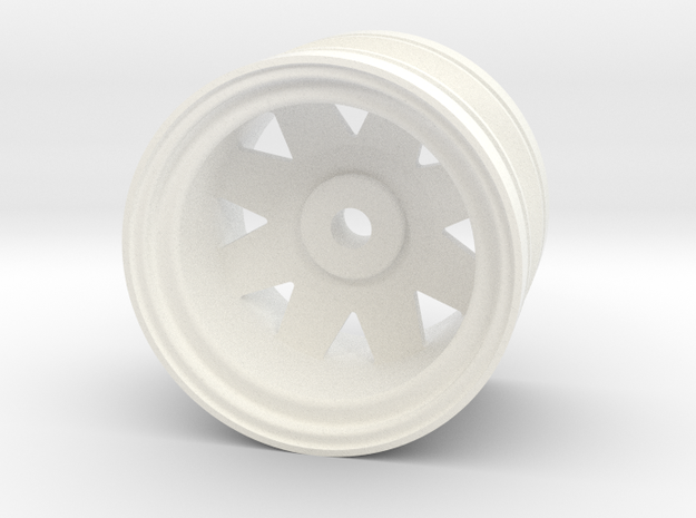 SRB Rear Wheel, Ranger Brat in White Processed Versatile Plastic