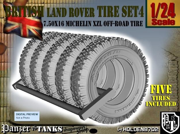 1-24 Land Rover 750x16 Tire Set4