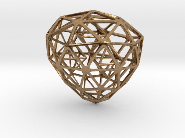 Cage Necklace in Interlocking Raw Brass