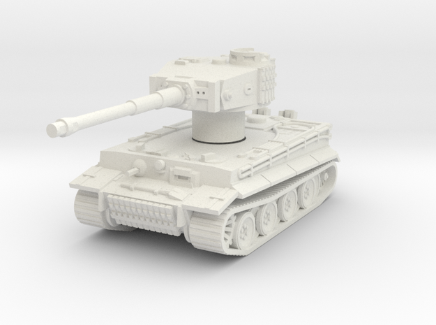Pzkpfw VI Tiger Rotatable Turret in White Natural Versatile Plastic