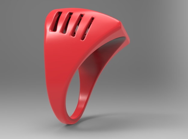 Breathing Ring Pl in Red Strong & Flexible Polished: 10 / 61.5