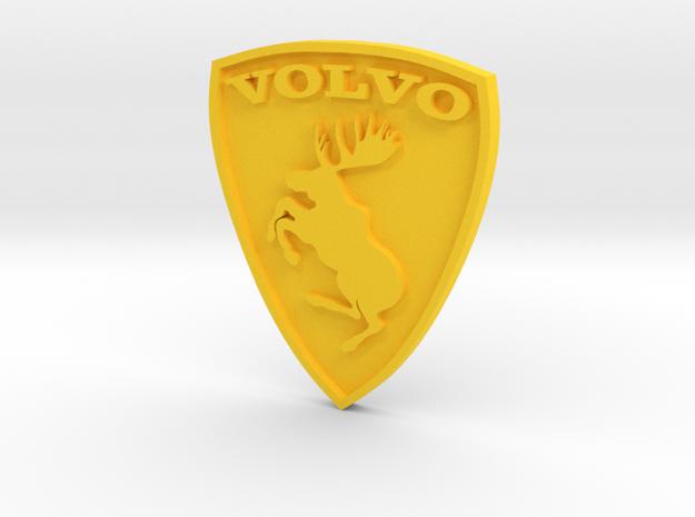 Volvo moose logo (aka Ferrari killer) in Yellow Processed Versatile Plastic