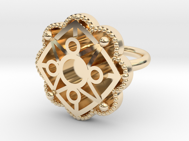 Star ring Astrum in 14k Gold Plated Brass: 5.5 / 50.25