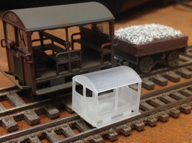 Wickham Trolley Car N (other gauges, lower price in Smoothest Fine Detail Plastic