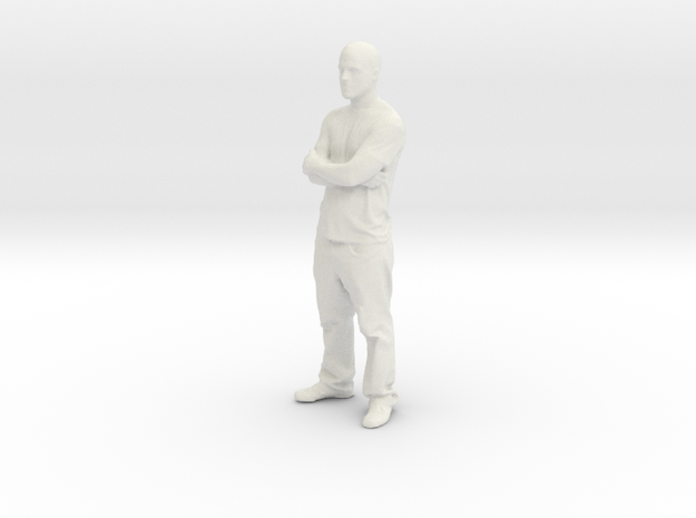 Printle C Homme 027 - 1/32 - wob in White Strong & Flexible