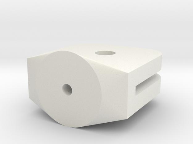 eigerPanel-Halter 5mm in White Natural Versatile Plastic