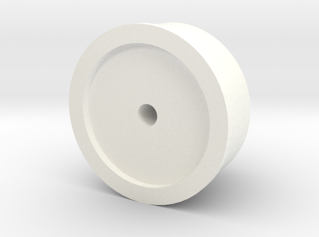 Snorkel air intake cap big D90 Gelande 1:10 in White Strong & Flexible Polished
