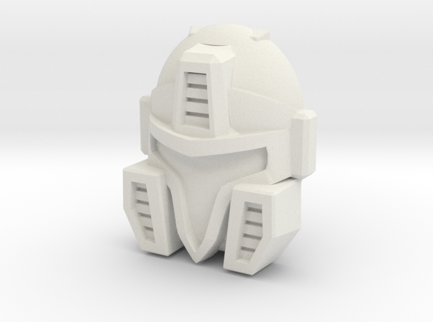 Cyberjet Skyjack/Air Raid Face (Titans Return) in White Natural Versatile Plastic