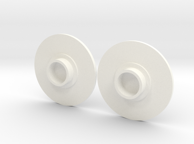 Fidget spinner caps in White Strong & Flexible Polished