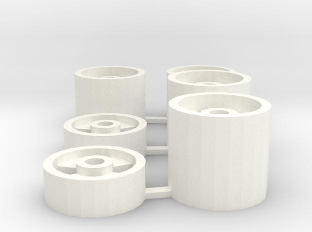 Rims V3 in White Processed Versatile Plastic