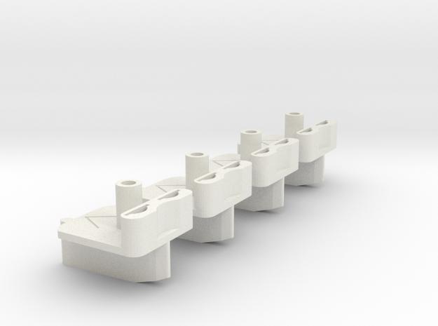 4x Slotcar Braid Guide  in White Natural Versatile Plastic