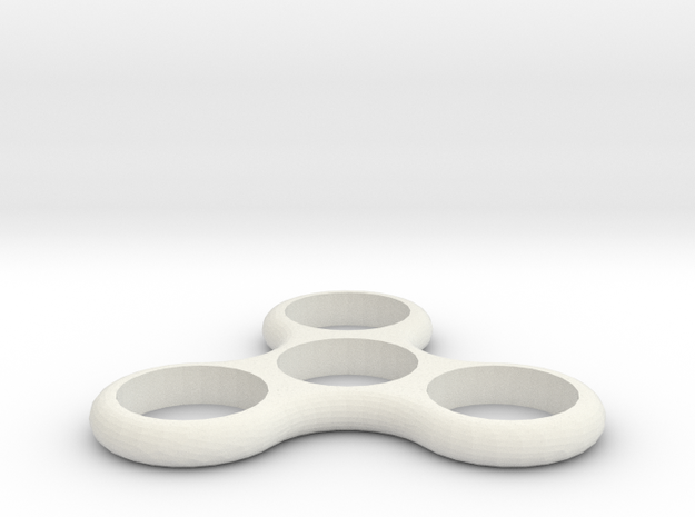 Hand Spinner Fidget Toy in White Strong & Flexible