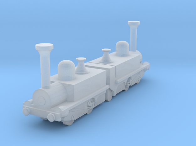 Mountain Locomotive MR. G. BELL 1I200 in Smooth Fine Detail Plastic: 1:200