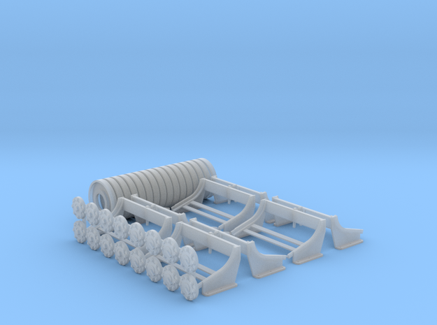 1:16 Depth Charges, Set of 8, PT Boats in Smooth Fine Detail Plastic