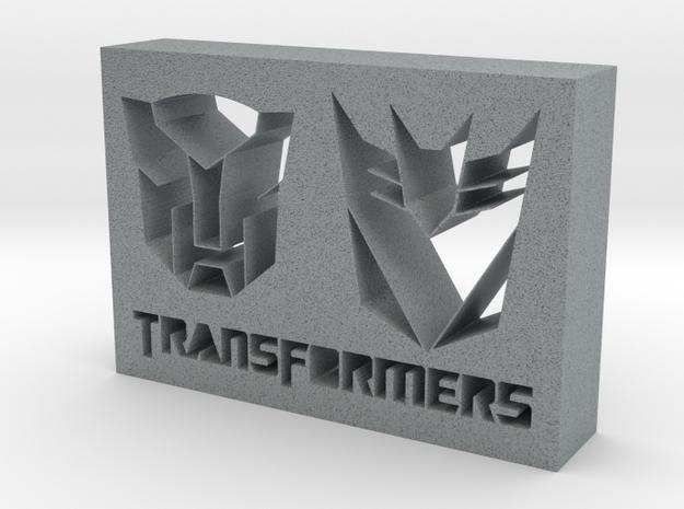 Transformers Logo in Polished Metallic Plastic