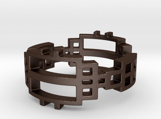 Réseau  in Matte Bronze Steel: 6.5 / 52.75