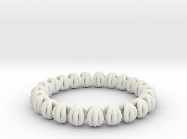 Bracelet Of Circles V2.5 in White Strong & Flexible