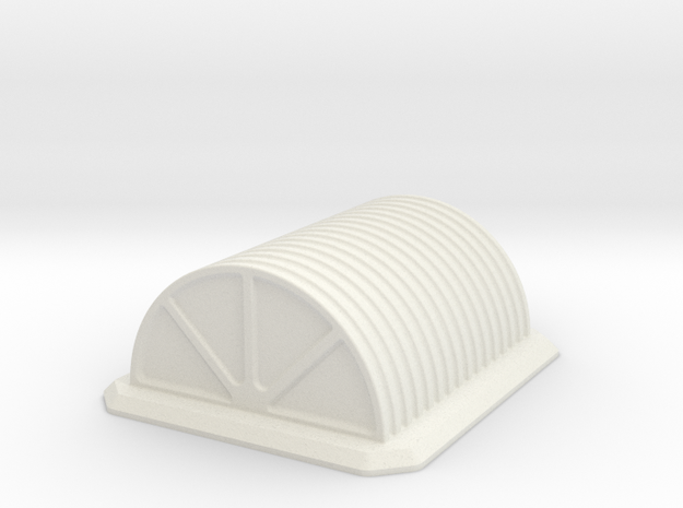 Hut Barracks in White Natural Versatile Plastic