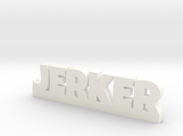 JERKER Lucky in White Processed Versatile Plastic