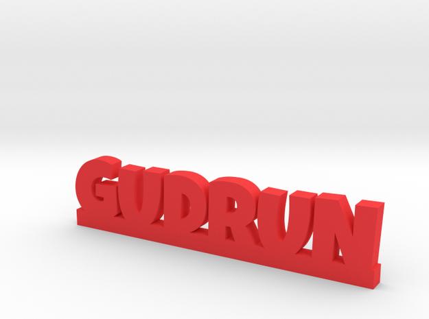 GUDRUN Lucky in Red Processed Versatile Plastic