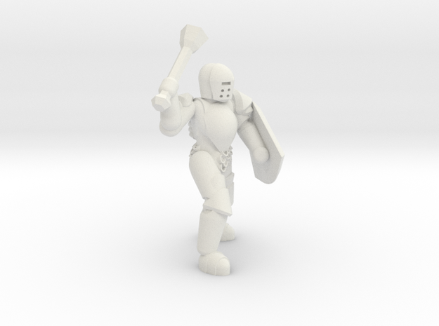 General Paladin Mini 2 (Mace and Shield) in White Strong & Flexible