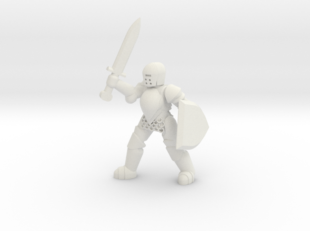 General Paladin Mini 2 (Sword and Shield) in White Strong & Flexible