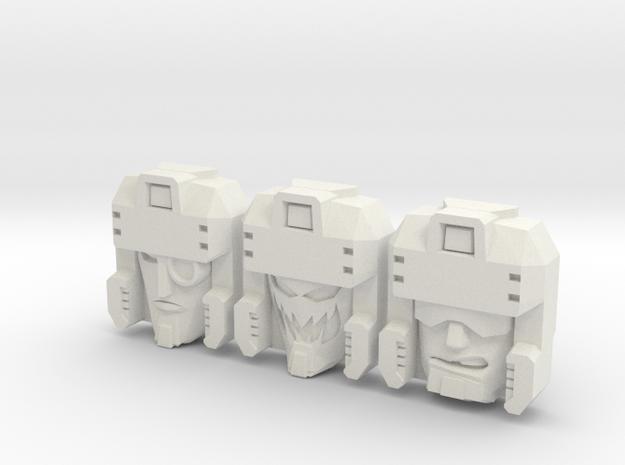 Blitzwing Face 3-Pack (Titans Return) in White Natural Versatile Plastic