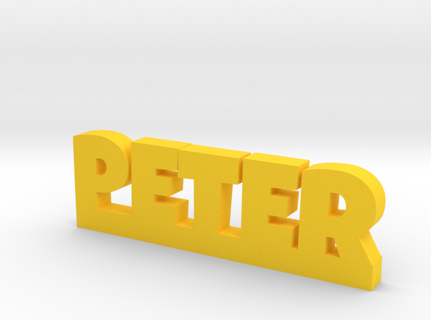 PETER Lucky in Yellow Processed Versatile Plastic