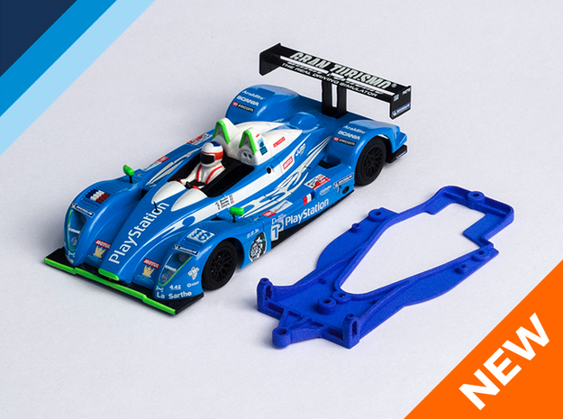 1/32 Avant Slot Pescarolo Chassis for NSR pod in Blue Strong & Flexible Polished