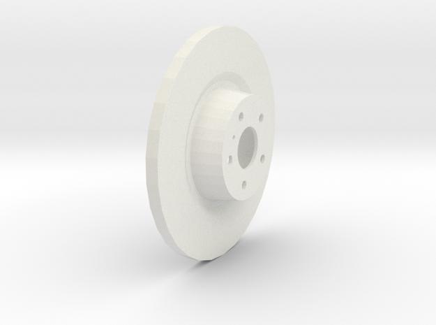 Brake Disk in White Strong & Flexible