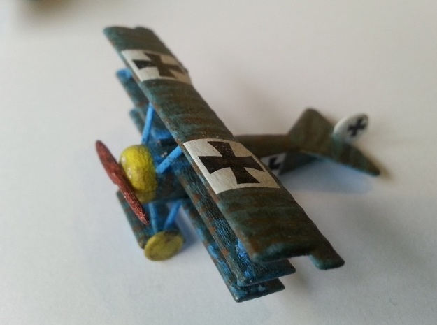 1/144 Fokker Dr.1 in White Strong & Flexible